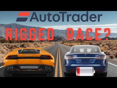 AutoTrader's Deceptive Drag Race?: Lamborghini crushes Tesla