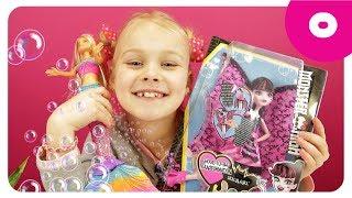 Кукла Барби Русалочка. Играем с мыльными пузырями. Видео для девочек