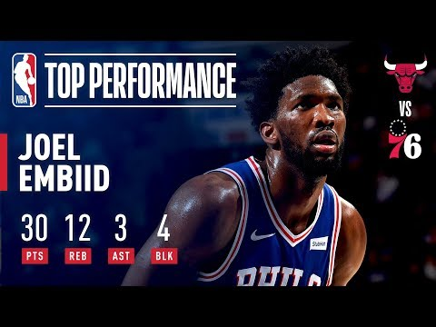 Joel Embiid Drops 30 Pts and 12 Rebs Vs Chicago Bulls | October 18, 2018
