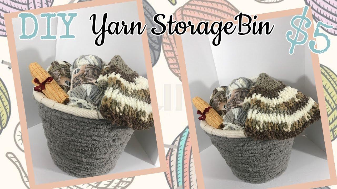 DIY Yarn Storage Bin | $5 To Make | Dollar Tree DIY