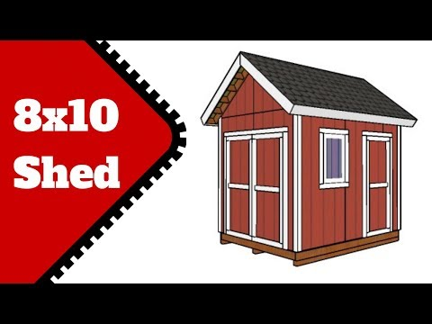 8x10 Shed Plans Free