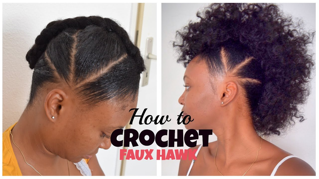 how to crochet faux hawk with overthetophaircollection - youtube