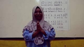 Latihan Membaca Notasi lagu AKU ANAK INDONESIA Cipt A.T. Mahmud