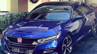 Vinyl Wrapping Roof and Mirrors on Honda Accord 2018-2019
