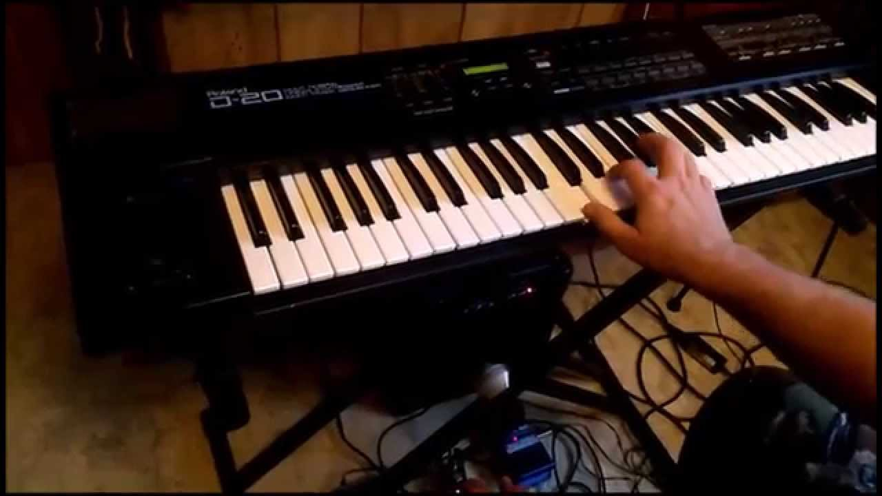 roland d 20 keyboard synth with guitar pedals youtube. Black Bedroom Furniture Sets. Home Design Ideas
