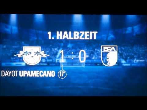 RB Leipzig vs FC Augsburg 2:0 Upamecano mit 100. Bundesligator für RBL Homesupport Palmenwedler