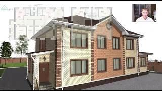 Удобный двухэтажный  жилой дом на две семьи «Магнитогорск» Е-380-ТП