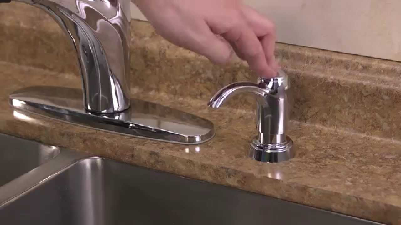 Installing a 1-Handle Pull-Out Kitchen Faucet with Integrated Supply ...