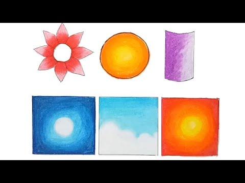 How to Blend Oil Pastels / Oil Pastels Blending Techniques For Beginners