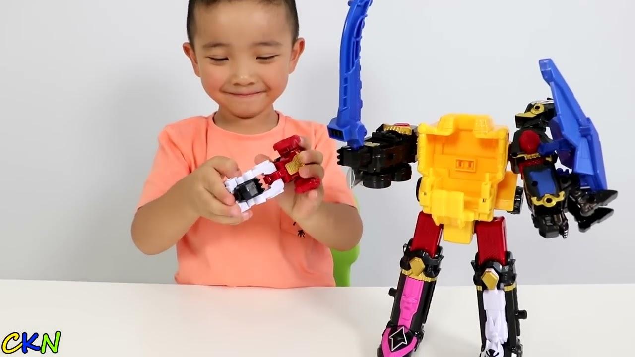 Power Rangers Dx Ninja Steel Megazord Toys Unboxing Fun With Ckn