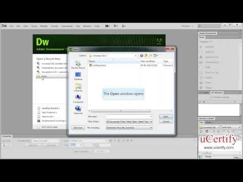 Setting Work Space In Dreamweaver CS6