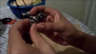 Como prender un foco LED con una pila AA y una pila de 9v