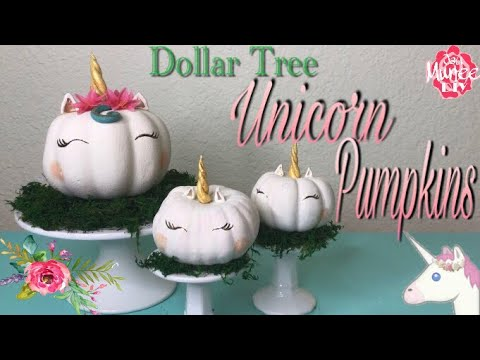 Dollar Tree DIY Unicorn Pumpkins   No Carve Pumpkin Decorating   YouTube Dollar Tree DIY Unicorn Pumpkins   No Carve Pumpkin Decorating