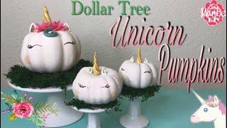 Dollar Tree DIY Unicorn Pumpkins - No Carve Pumpkin Decorating
