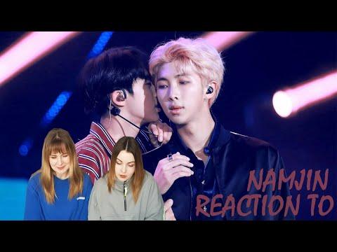 BTS NAMJIN REACTION [RM & JIN]
