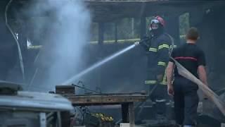 Incendie à la Hoguette, près de Falaise