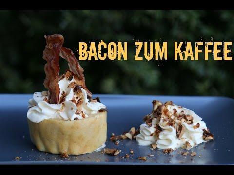 Bacon zum Kaffee - Dessert vom Grill mit Jack Daniels Sahne & Candy Bacon