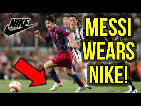 9f92a1d44 WHEN MESSI WORE NIKE FOOTBALL BOOTS!  NIKE SUES ADIDAS  - YouTube
