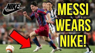WHEN MESSI WORE NIKE FOOTBALL BOOTS! *NIKE SUES ADIDAS*