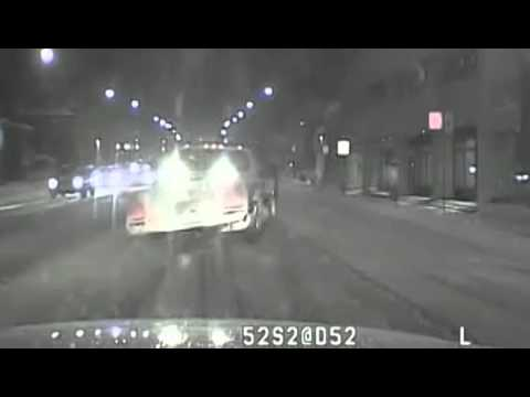 Dashboard video of officer's snowplow death
