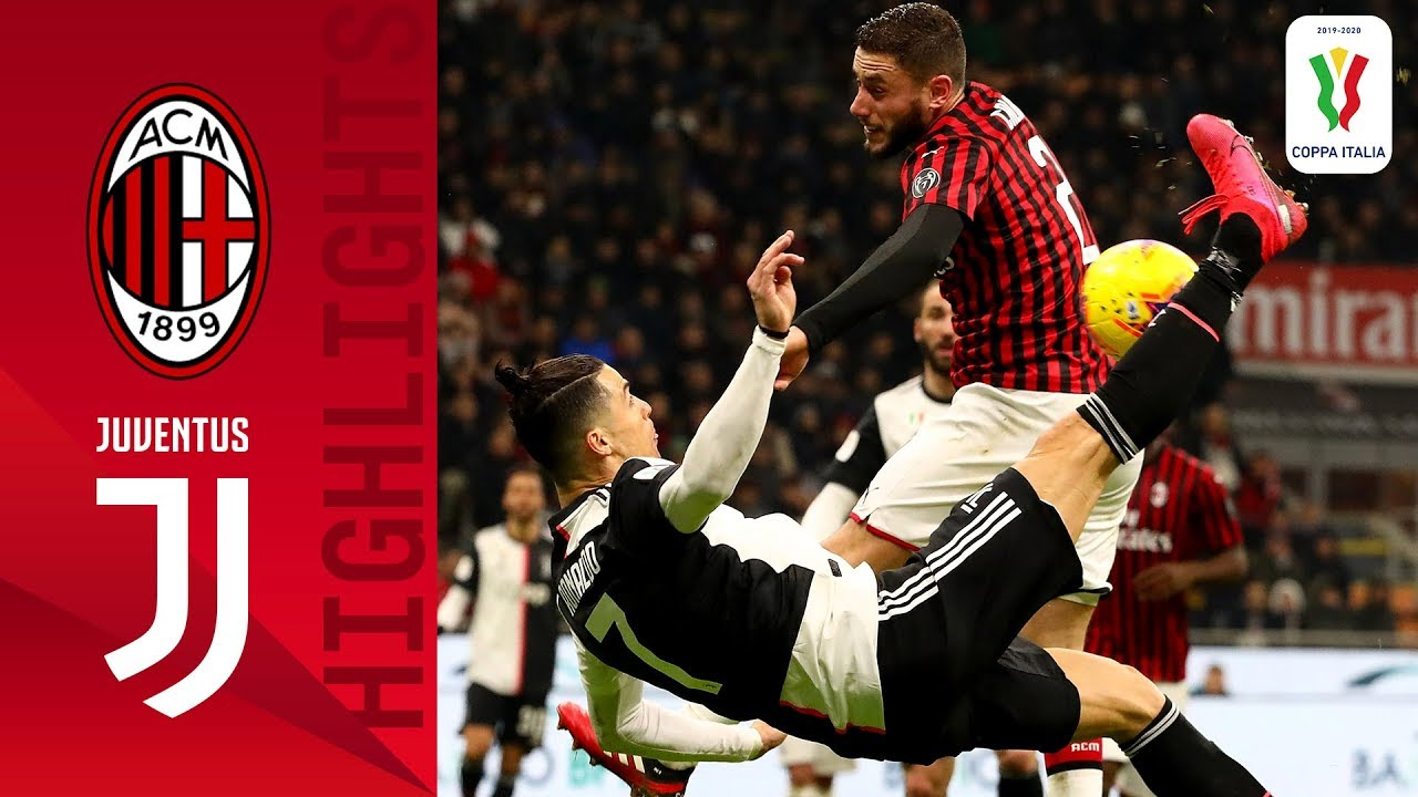 Milan 1 1 Juventus Cr7 Scores Again As Juve Rescue Cup Draw In Milan Semi Finals Coppa Italia Youtube