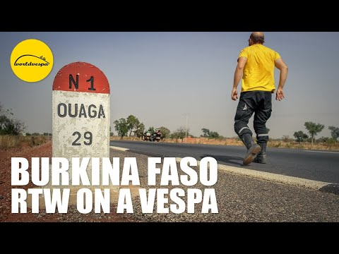 Vespa travel Burkina Faso