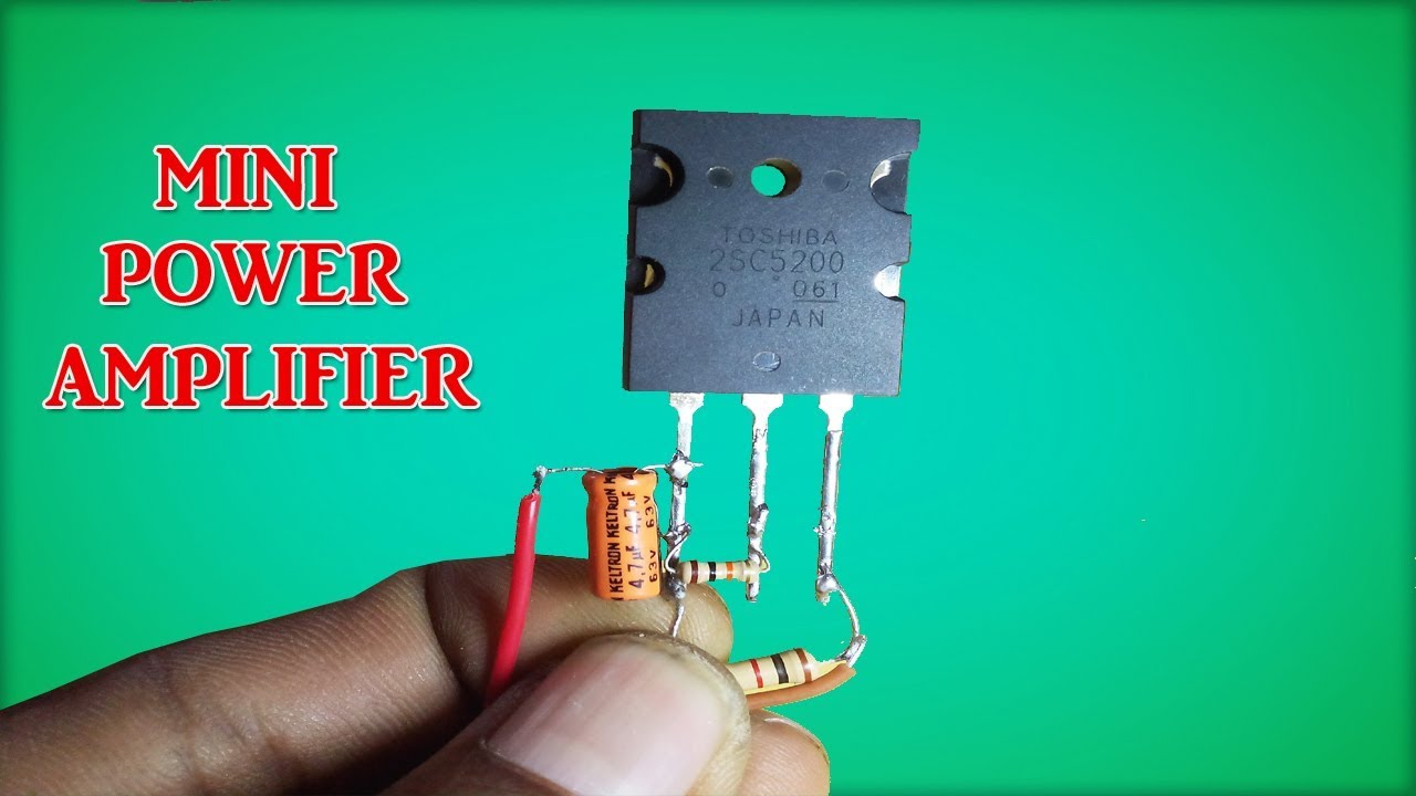 Mini Power Audio Amplifier Circuit Using Transistor Youtube Diagram