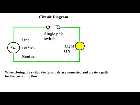 what is a single pole switch  single pole single throw switch  single pole  switch diagram