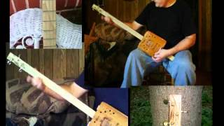 """Hemingway"" Cigar Box GUITAR 3 String CBG Hemingway Box CBG DEMO Home made junk project"
