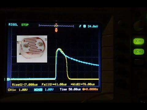 Замеряю быстродействие фоторезистора