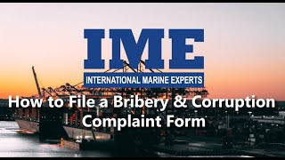 How to File a Bribery & Corruption Complaint Form with IME