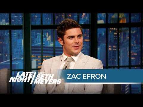 Zac Efron on Starring in the Baywatch Reboot - Late Night with Seth Meyers