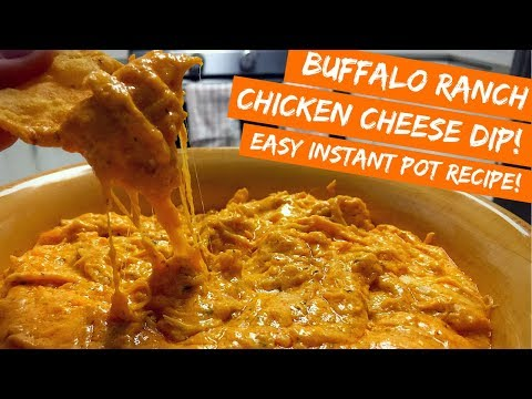 Buffalo Ranch Chicken Cheese Dip! EASY Pressure Cooker Recipe! Perfect For The Super Bowl!