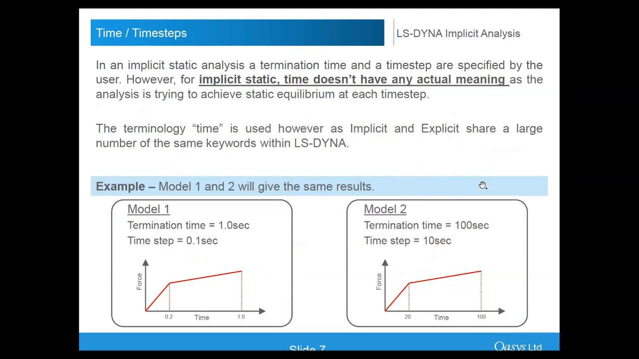 Implicit analysis using LS DYNA