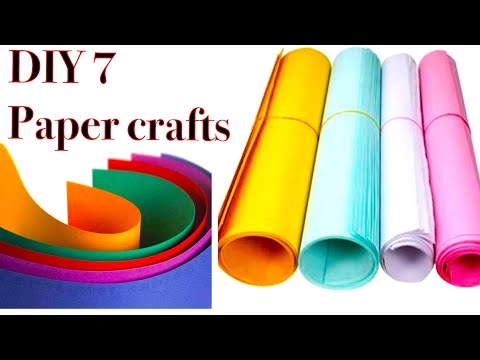 7DIY easy art and craft with paper