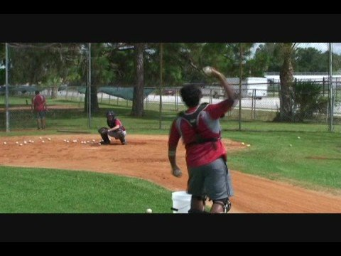 Catchers Receiving Drills at The Baseball Academy