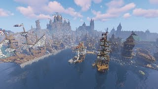 BIGGEST MEDIEVAL CITY IN MINECRAFT Theams Cinematic YouTube
