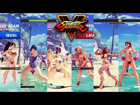 Street Fighter V AE Chun Li/Falke/Ibuki vs Laura/Karin/Sakura PC Mod