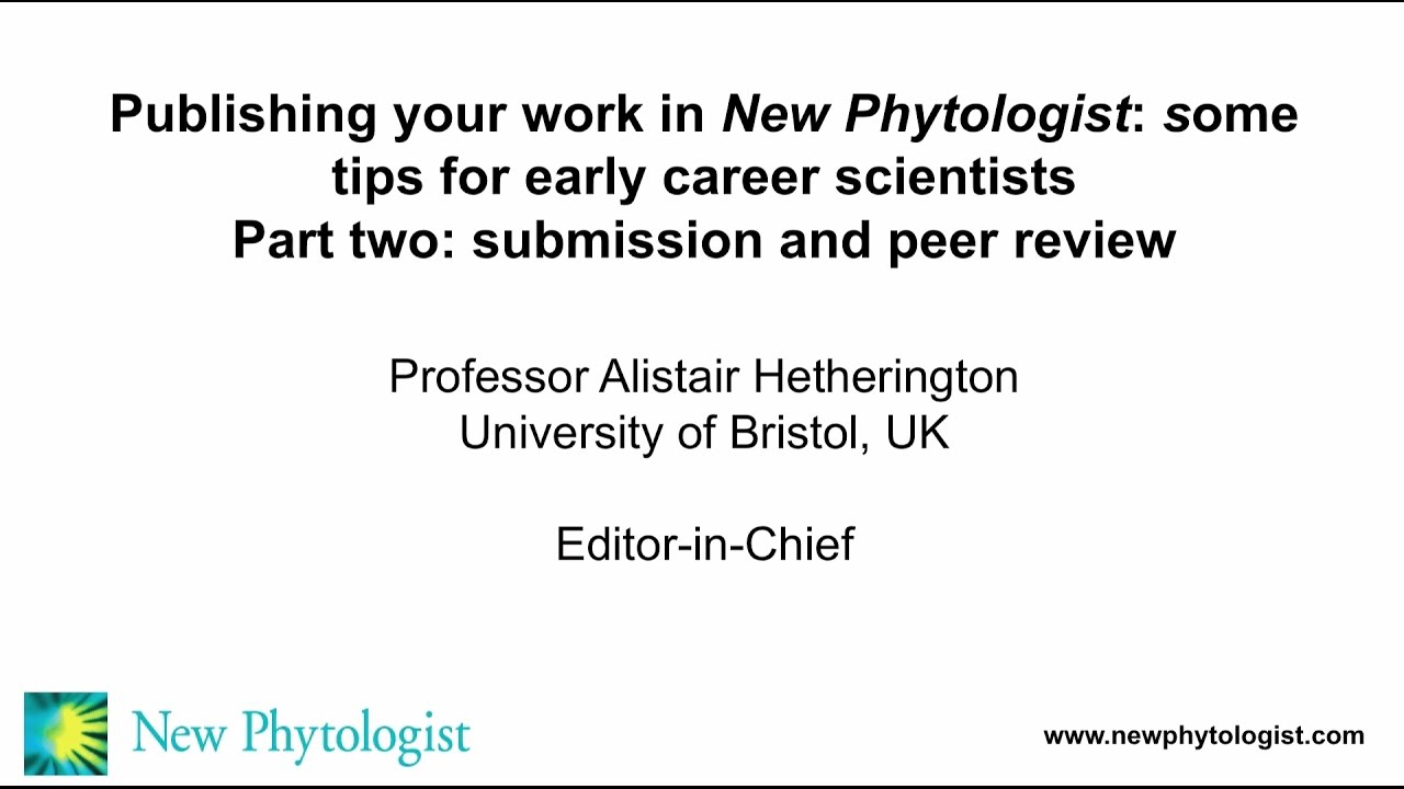 How to publish your work in New Phytologist | New Phyt blog