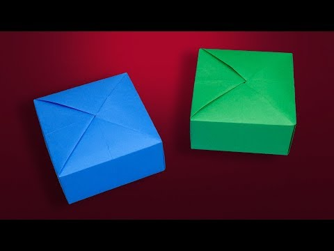 How To Make a Paper Gift Box Without Glue | DIY Origami Box With Color Paper
