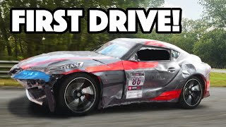 2020 Supra Rebuild EP3 - FIRST DRIVE OF THE WRECKED A90!