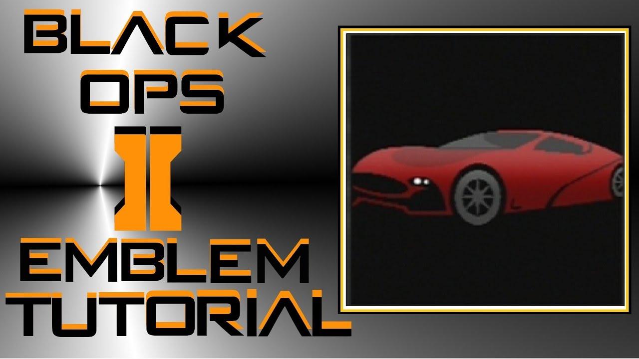 Call of Duty Black Ops 2 Sports Car Emblem Tutorial