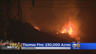 Thomas Fire Intensifies In Carpinteria, More Evacuations Ordered