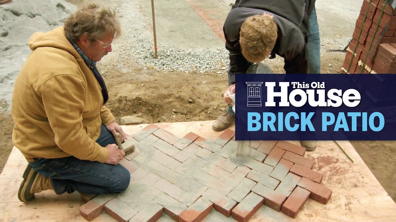 how to lay a new brick patio this old house