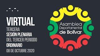 Tercera Sesión Plenaria del Tercer Periodo Ordinario - 08 Octubre 2020