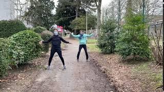 Hampelmänner Maria-Lenssen-Garten Rheydt - Muskelkater Rundweg