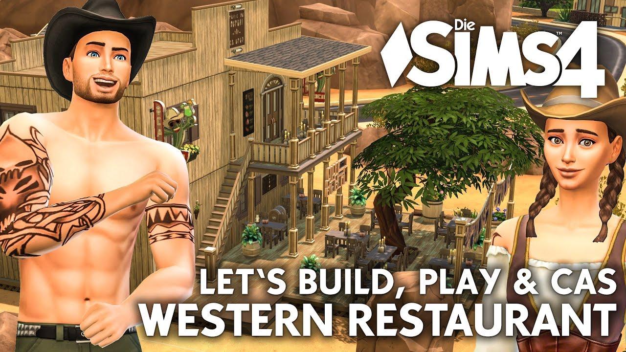 Die sims 4 gaumenfreuden release showcase restaurant gameplay pack - Live Die Sims 4 Cowboy Cowgirl Sims Erstellen Restaurant Bauen Einrichten Let S Play Build