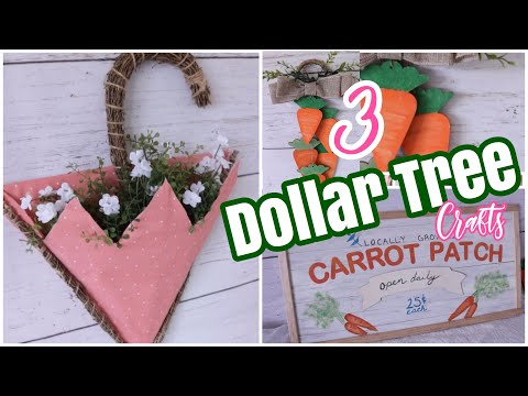 3 Dollar Tree DIY Spring Decor Crafts Hobby Lobby Inspired