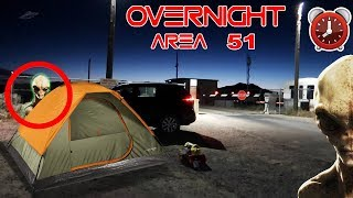 (ALMOST DIED) 24 HOUR OVERNIGHT in AREA 51 (ALIEN FOUND) | OVERNIGHT CHALLENGE in AREA 51 GONE WRONG