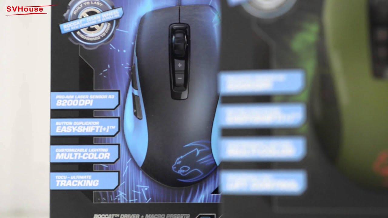 Mở hộp chuột Game - Thiết kế đồ họa Roccat Kone Pure Color ...